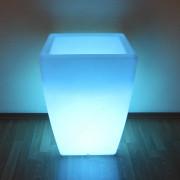 """Комплект Кашпо """"Flox"""" малое белый с беспроводной подсветкой"""