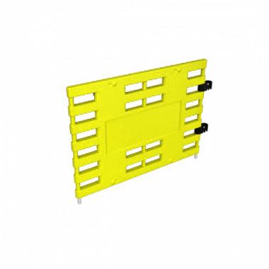 Ограждение барьерное «ARGO» (с коннекторами) желтый