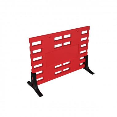 Ограждение барьерное «ARGO» с пластиковыми опорами красный