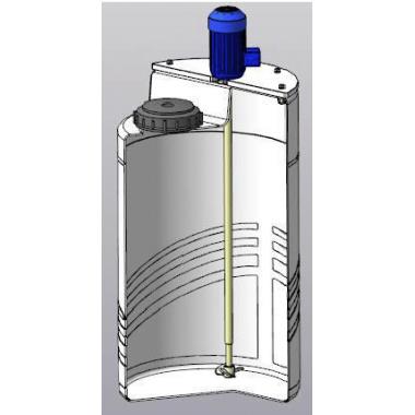 Установка приготовления реагентов 100л с турбинной мешалкой