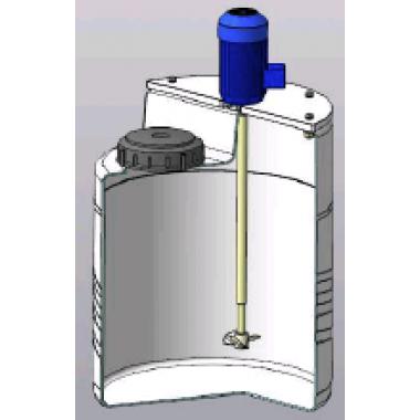 Установка приготовления реагентов 60л с лопастной мешалкой