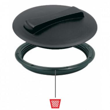 Крышка для емкости D250мм резьбовая без дыхательного клапана пластик