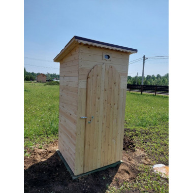 Дачный туалет с односкатной крышей - Сибирская