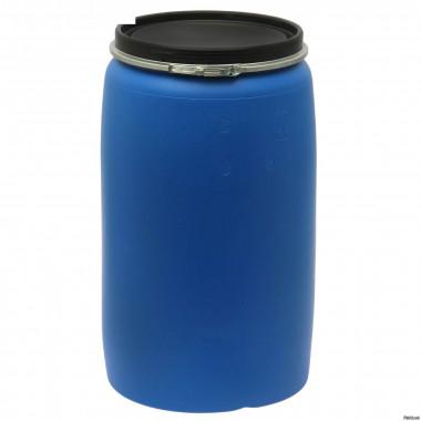 Бочка б/у пластиковая 227 литров с широкой крышкой